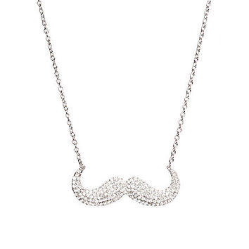 Bling Mustache Necklace