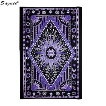 Purple Burning Sun Tapestry Astrology Wall Hanging
