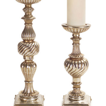 Regal Pillar Candle Holders (Set of 2)