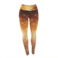 "KESS Original ""Sunrise"" Orange Bokeh Yoga Leggings"