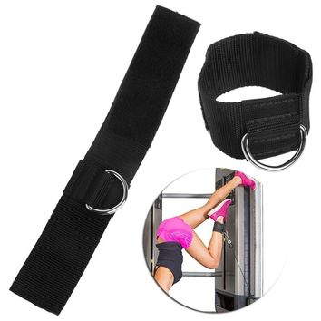 Ankle D-ring Strap Multi Gym Cable Attachment Thigh Leg Pulley Weight Lifting