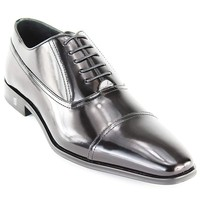 Versace Collection Men's Black Leather Lace Up Oxford Shoes