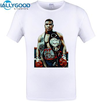 Iron Mike Tyson Cool Design BOX T-Shirt New Arrival Summer Mens Tops Harajuku Cotton Man Tee Plus Size T S