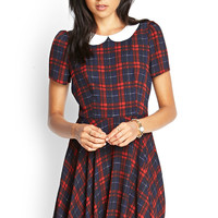 Plaid Peter Pan Collar Dress