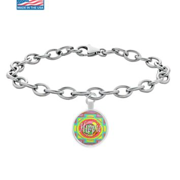 "Charming ""Hippie"" Bracelet. Free Love and Life by #Googarilla. Hurry."