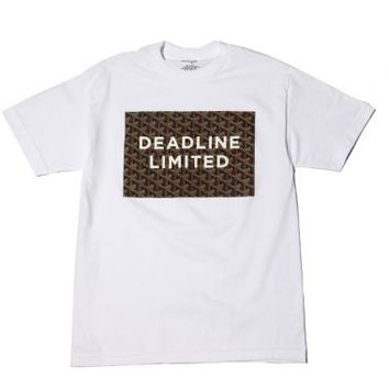Deadline - White Goyard Box Logo Tee - Deadline, T-Shirts, T-Shirts - KNYEW Clothing Boutique