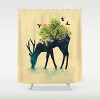 Watering (A Life Into Itself) Shower Curtain by Picomodi