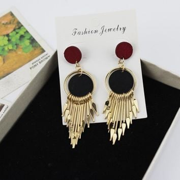 Tassels Alloy Bohemia Hot Sale Earrings [11337093703]