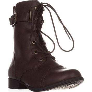 AR35 Fionn Combat Boots, Brown, 9 US