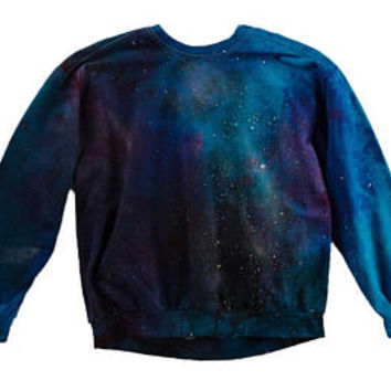 Galaxy Sweatshirt, tie dye hoodie crewneck sweatshirt pastel goth burning man clothing galaxy plus size rave occult wanderlust
