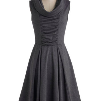 Storytelling Showstopper Dress in Charcoal