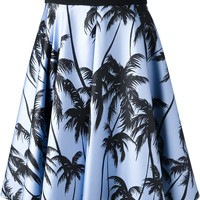 Fausto Puglisi Palm Tree Print Skirt