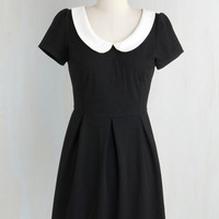 Vintage Inspired Short Length Short Sleeves A-line Record Time Dress
