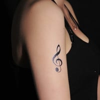 Musical Temporary Tattoo (Pack of 7, three sizes)