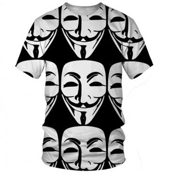 Anonymous T-Shirt | All Over Print Shirt | EDM Shirts For Raves