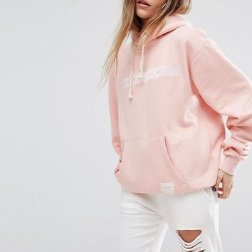 Criminal Damage Oversized Hoodie With Tonal Logo at asos.com