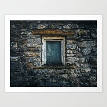 Who's That Peepin' In The Window? Art Print by Mixed Imagery