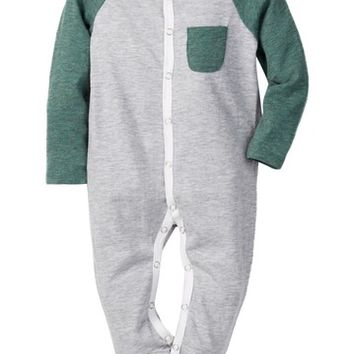 7 For All Mankind | Raglan Long Sleeve Footie (Baby Boys 0-9M) | Nordstrom Rack