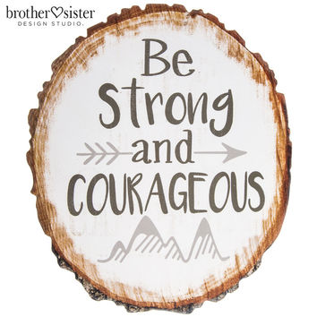 Be Strong & Courageous Wood Wall Decor | Hobby Lobby | 1538230