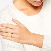ASOS Gold Plated Sterling Silver Chain Ring with Stone
