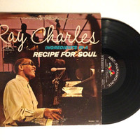 LP Album Ray Charles Ingredients In A Recipe For Soul 1963 RnB Over The Rainbow Born To Be Blue