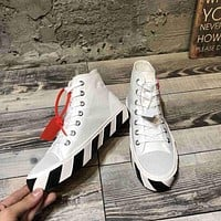 OFF WHITE  Women Casual Shoes Boots popularable casual leather Women Heels Sandal Shoes