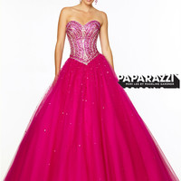 Sweetheart Beaded Tulle Ball Gown Paparazzi Prom Dress By Mori Lee 97125