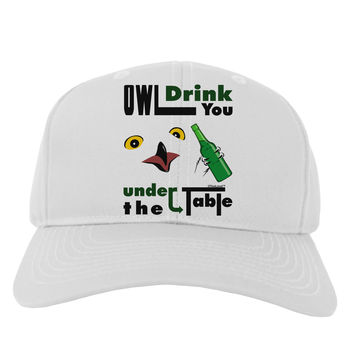 Owl Drink You Under the Table Adult Baseball Cap Hat