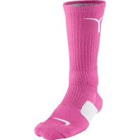 Nike Kay Yow Elite Crew Basketball Socks Pink/White Size Socks Medium 4-8