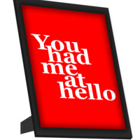You Had Me At Hello Jerry Maguire Framed Art