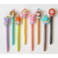 Hellogeeks cute gel pen with soft rubber character 0.38mm ver.2
