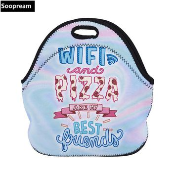 free shipping lancheira thermo thermal insulated neoprene lunch bag women kids lunchbags tote cooler lunch box insulation pouch