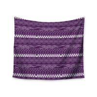 """Famenxt """"Pattern Purple"""" Lavender Abstract Wall Tapestry"""