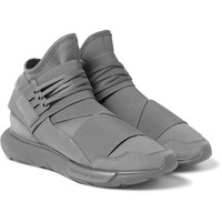 Y-3 - Qasa Suede-Trimmed Neoprene High-Top Sneakers