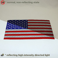 Reflexite American Flags Microprismatic Retroreflective Sticker Decals: