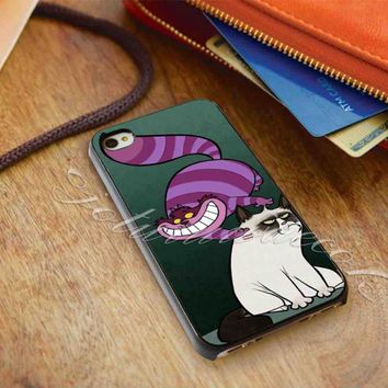 grumpy cat and cat cheshire - for iPhone 4/4s, iPhone 5/5S/5C, Samsung S3 i9300, Samsung S4 i9500 Hard Case *ojoturuwaecok*