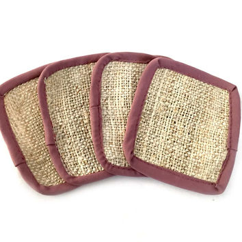 Mato Naturals Drink Glass Furniture Table Hemp Coasters Set of 4