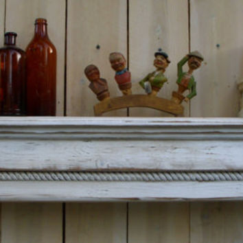 Wooden Mantel - Floating Wall Shelf - Wooden Furniture - Shabby Furniture - Chic - 44 Inches
