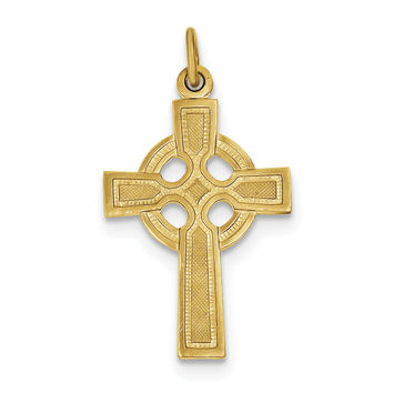 Sterling Silver & 24k Gold -plated Celtic Cross Pendant QC5457