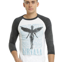 Nirvana In Utero Angel Raglan