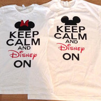 Free/Fast Shipping for US Disney Keep Calm Couples Shirts