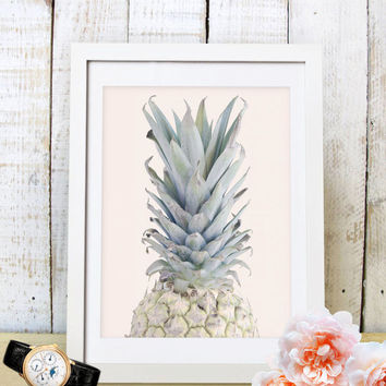 60% OFF SALE Pineapple Print - Modern Pretty Pineapple Art Print,Beach Home Decor,Wall Art,Printable
