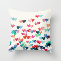 Heart Connections - watercolor painting Throw Pillow by micklyn | Society6