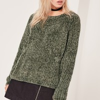Missguided - Cosy Chunky Knitted Jumper Khaki