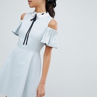 Ted Baker Araye Skater Dress with Embellished Collar at asos.com