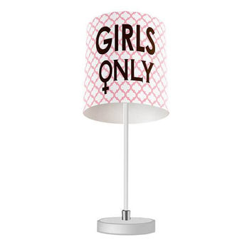Girls Only with Symbol Table Lamp