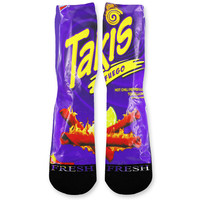 Takis Purple Custom Athletic Fresh Socks