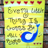 Nursery Wall Art, Kids Room, Children's Room Decor, Bird Art, Music Canvas, Lyric Art, Quotes