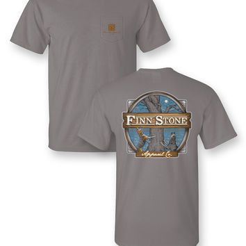 Finn Stone Apparel Coon Dog Comfort Colors Unisex Frass Bright T Shirt