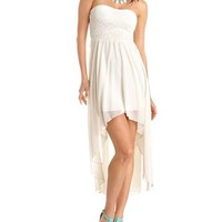 Lace Bust Hi-Low Tube Dress: Charlotte Russe